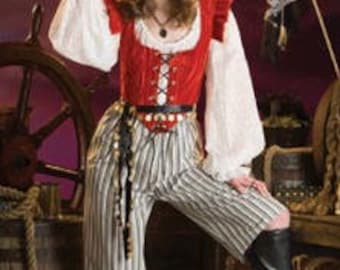 Simplicity 3809 Pirate Wench Costume Pattern - Misses (6-12), (14-20) - LARP - SCA