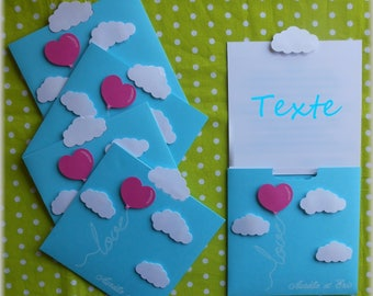 announcement or invitation theme love in the clouds