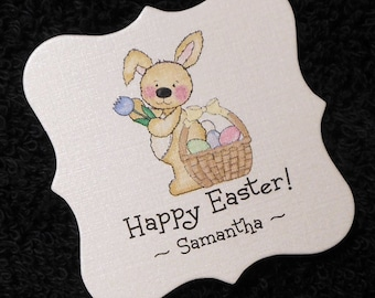 Tulip favor tags etsy 20 personalized easter tags negle Choice Image