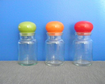 Vintage Apothecary Jars - Set of 3 Colors - 1970s - Belgium
