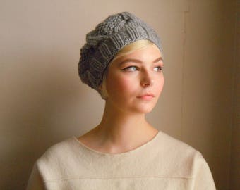 Chunky wool beret - Gray