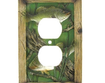 Fishing Double Outlet Plate Cover
