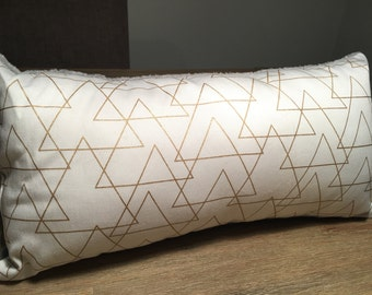 Gold Triangle Cushion