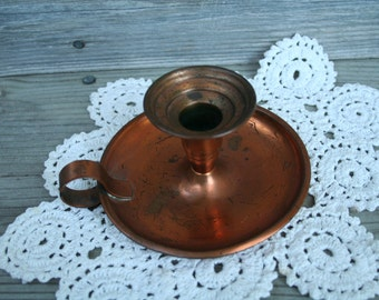Fresh Copper candle holder | Etsy LB95