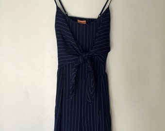 Blue Striped Jumpsuit by Flying Tomato