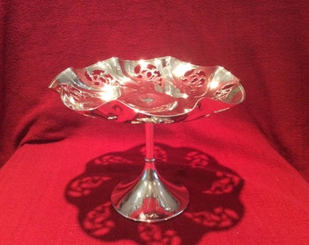 Fenton Brothers Ltd EPNS Electro Plated Nickel Silver Cake or Fruit Stand circa 1900