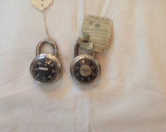 2 Vintage Master Combination Locks, Master Lock, Combination Locks.