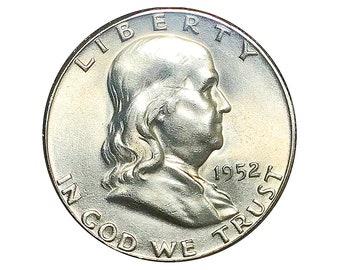1952 S Franklin Half Dollar - Choice BU / MS / Unc