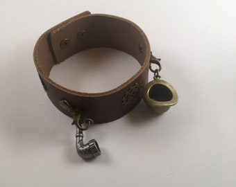 Steampunk Leather Bracelet