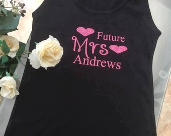 Future Mrs ????   Vest Tank Top  Glitter Wedding Bride