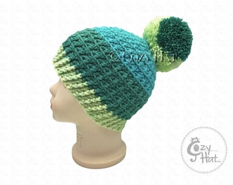 Ready to ship! Cozy Cake Beanie Hat. Hand Crochet Beanie. Size 1 to 2 yr Toddler Hat. Unisex