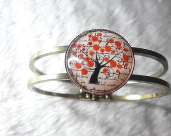 The Red tree cabochon Bangle