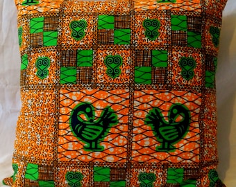 Handmade African Printed Cushion Cover- Decorative Pillow - Couch Pillow - Throw Pillow - Scatter Cushion - Cushion Cover