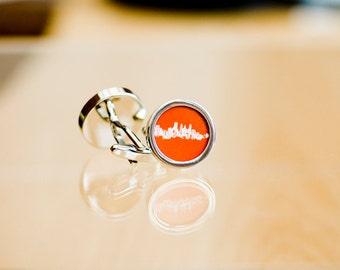 Minneapolis  skyline on Cufflinks - Husband, Weddings, novelty cufflinks,  silhouette fathers day gift for him