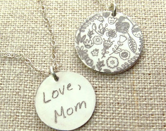 Custom Handwriting Jewelry - Personalized Gift - Personalized - Handwriting Necklace - Gift - Handwritten Jewelry - Memorial Jewelry