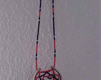 Necklace  - beaded dream catcher