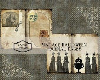 Vintage Halloween Journal Kit Printable Digital Download
