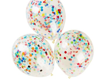 CONFETTI BALLOONS - 3 pack