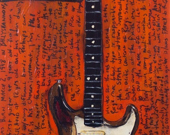 Stratocaster | Guitar Art | Rory Gallagher 1961 Vintage Fender Stratocaster. vintage electric guitar