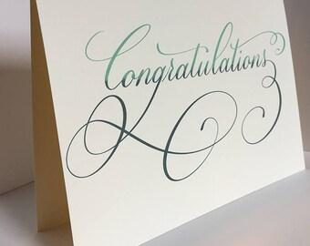 Congratulations Card, Wedding Card, Greeting Card, Congratulations, For the Newlywed, Wedding Card Congratulations, Engagement Card