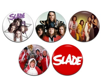 5x Slade Band Rock Glam Christmas 25mm / 1 Inch D Pin Button Badges