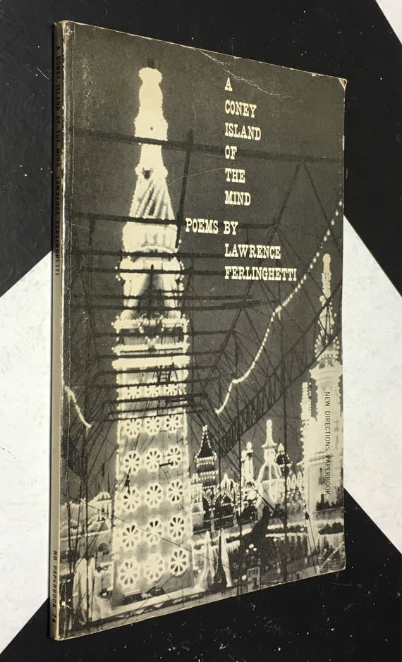 A Coney Island of the Mind Poems by Lawrence Ferlinghetti (Softcover, 1958) vintage book