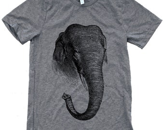 Elephant T-Shirt - Mens American Apparel Shirt - Available in sizes S, M, L, XL