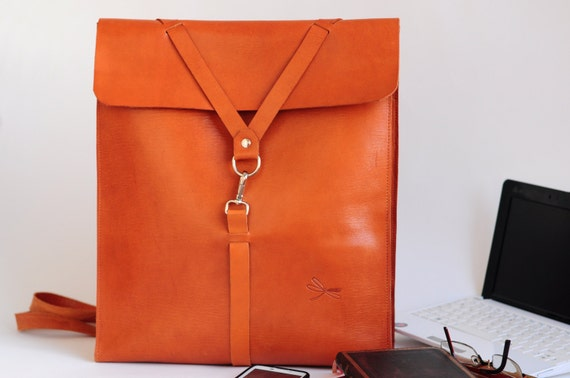 Leather bag, Leather backpack for men, Backpack for laptop, folders, ect. Leather school bag, Desing by Ludena