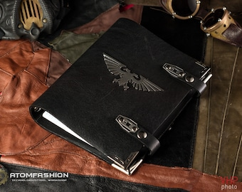 Imperium leather writing-book based on the Warhammer 40000 universe.