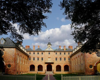 WREN BUILDING, William and Mary College, Classical Architecture, Historic Campus, 1693, Tribe,  Colonial Williamsburg, Photograph, Notecard