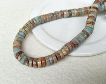 15.5 inch one stand Roundel  natural serpentine gemstone Beads, serpentine Beads ,stone beads,jewelry necklace finding making SZ38