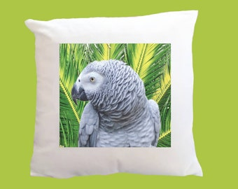 Congo African Grey Parrot Super Soft White Cushion