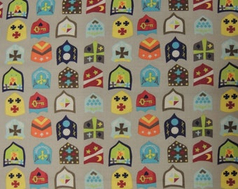 Windham Fabrics beige pattern background Knights fabric coupon