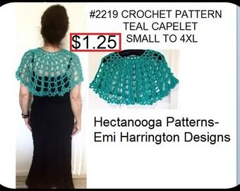crochet capelet pattern, Shawlette pattern, Prom shawl, formal collar, dress embellishment, All sizes, #2218yt, Small, Med, Large, XL, 4XL