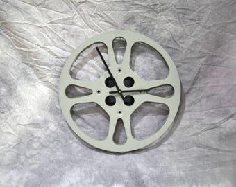 """Vintage 16mm 12"""" movie reel clock"""