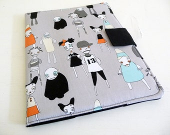 Zombies iPad 2 Cover, Adorable Zombie iPad 3 Case, casual book style