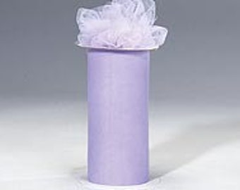 """6 inch x 300 foot """"Import"""" Nylon Tulle Roll -LAVENDER"""