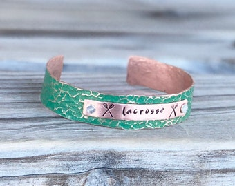 Personalized Lacrosse Bracelet, Personalized Lacrosse Gift Ideas for Her, Lacrosse Mom Bracelet, Gift for Lacrosse Player, Lacrosse Gifts