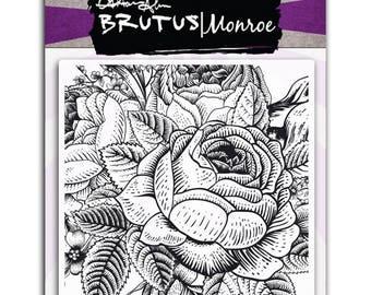 Brutus Monroe - Enchanted Rose Background Stamp