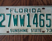 Vintage 1973 Florida License Plate 1973 license plate vintage Florida license plate old Florida license plate antique Florida license & Items similar to Vintage 1973 Florida License Plate 1973 license ...