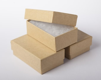 10 pieces Kraft box 6x4x2 cm jewelry box box carton gift wrapping Small packaging boxes