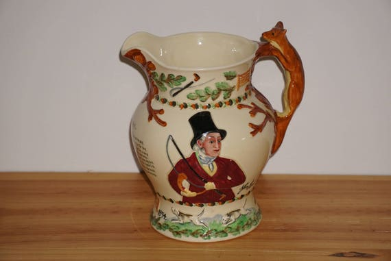 Crown Devon Fieldings John Peel Musical Pitcher Hunting Fox 7.5 Inches