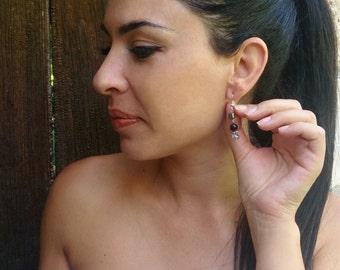 Black and grey earrings