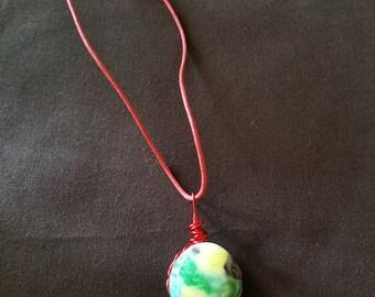 Stone earth pendant
