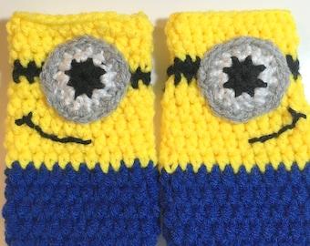 Minion Inspired Fingerless Gloves