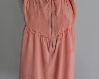 Peach Rayon 1940s Style Slip Dress