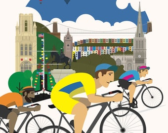 Bristol Male Cycling Poster