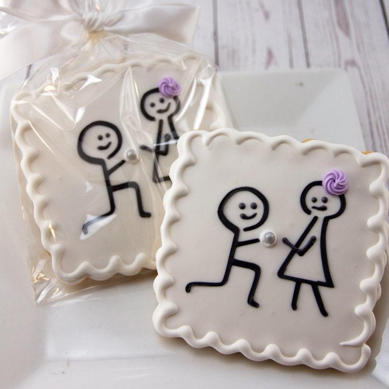 Engagement Cookies Wedding Cookies Stick Figure 12
