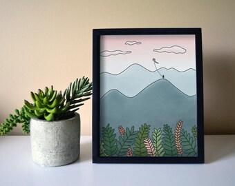 Kite Mountain Art Print