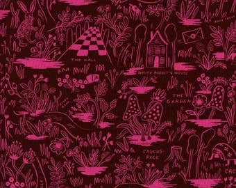 Magic Forest Ruby  - Wonderland - RAYON - Anna Bond Rifle Paper Co - Cotton + Steel - 8017-35